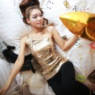 LY9007 Gold Blouse