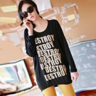 LY9018 Black Blouse