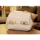 S700 White Leather Bag